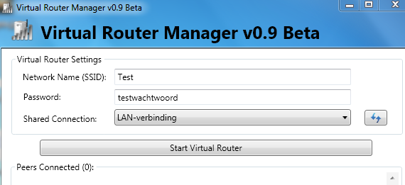 Virtual Router instellen