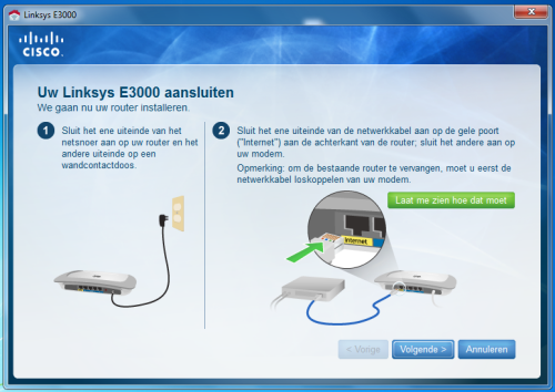 Linksys E3000 installeren
