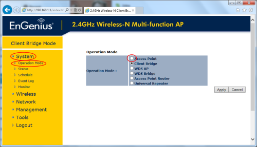 Engenius Access Point Mode